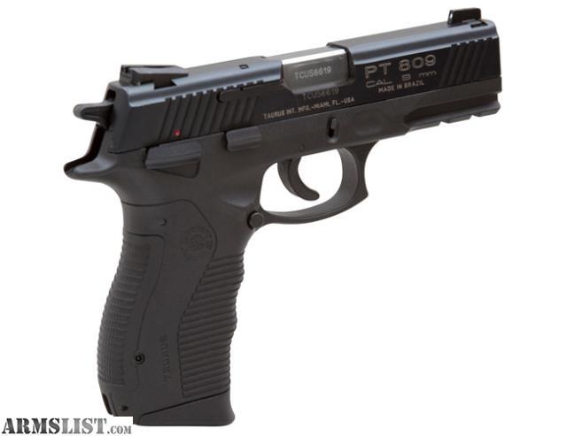 ARMSLIST - For Sale: Taurus handgun Model 809B 9 MM 18 shot Large ...