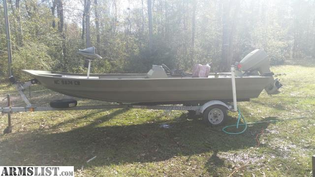 Armslist For Sale Trade 16ft Duracraft Jon Boat 40hp
