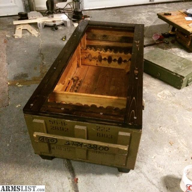 For Sale: Mosin Nagant Coffee Table Crate