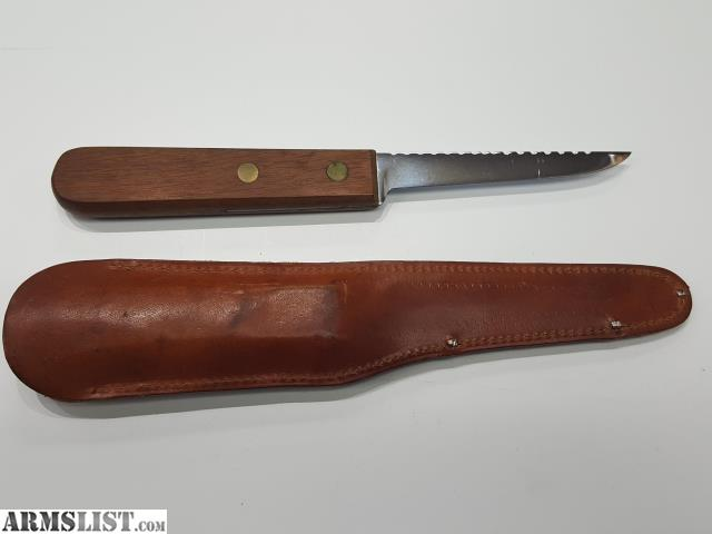 Armslist for sale ka bar fishing knife with scaler edge for Fish scaling knife