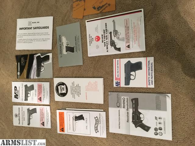 ARMSLIST - For Sale: Factory Pistol Manuals, Beretta