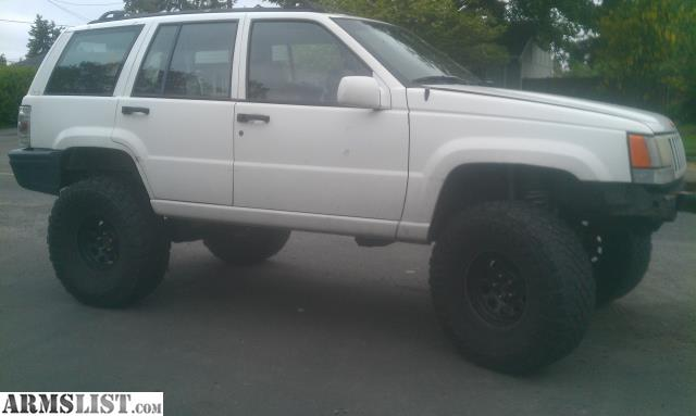 armslist for sale 1993 jeep grand cherokee lifted fs ft partial gun trade. Black Bedroom Furniture Sets. Home Design Ideas