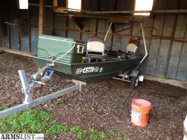 Armslist for trade alumacraft jon boat and trailer for Fish finder for jon boat