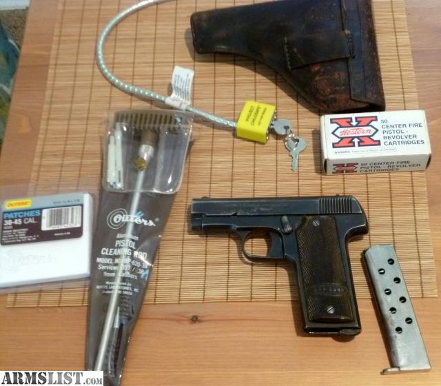 "For Sale: WWI Era-pistol; ""Vilar"" .32acp"