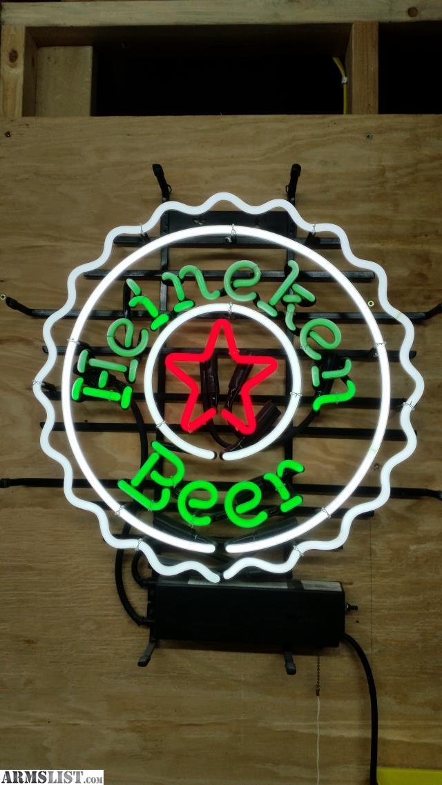 neon beer heineken sign trade used value light armslist ohio