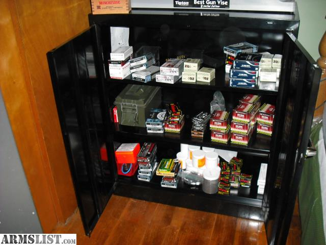 ARMSLIST - For Sale: Locking ammo cabinet