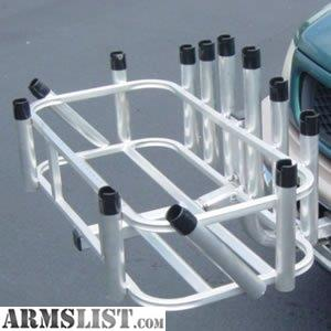 Armslist for trade rod rack ii hitch mount rod and for Hitch fishing rod holder