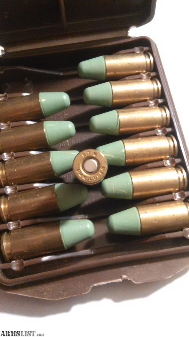 ARMSLIST - For Sale: KTW Ammo 9 mm