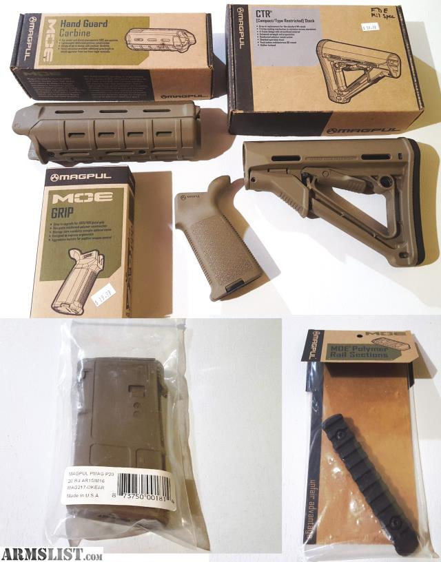 Armslist For Sale Magpul Ar15 Fde Furniture Stock Grip Forend Mag Rail