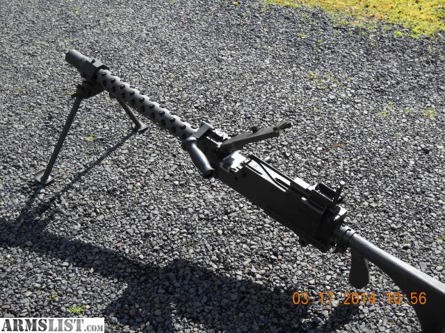 Browning 1919 semi auto with bipod carry handle and extended stock