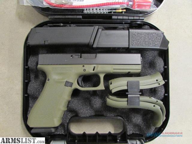 ARMSLIST - For Sale: Glock 19 Gen 4 Battlefield Green Frame