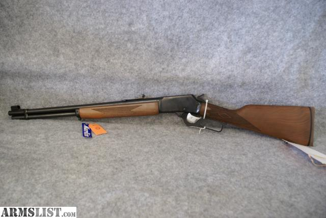 This is a marlin 1894 lever action rifle chambered in 44 mag this gun