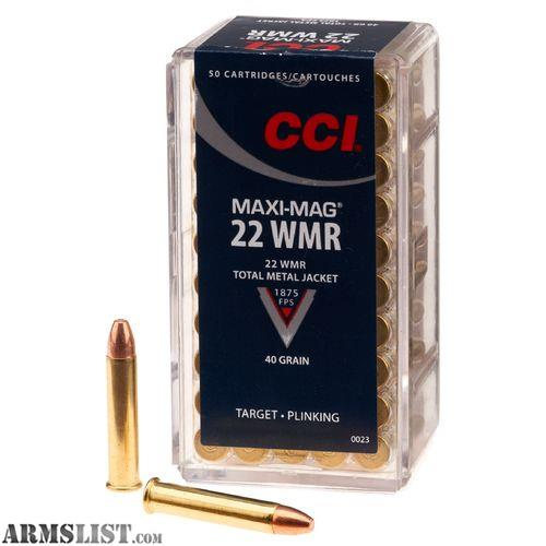 Armslist for sale wts cci 22wmr and 22lr ammo