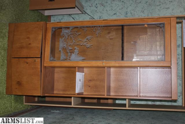 Armslist For Sale Locking 6 Gun Cabinet With Etched Glass Door