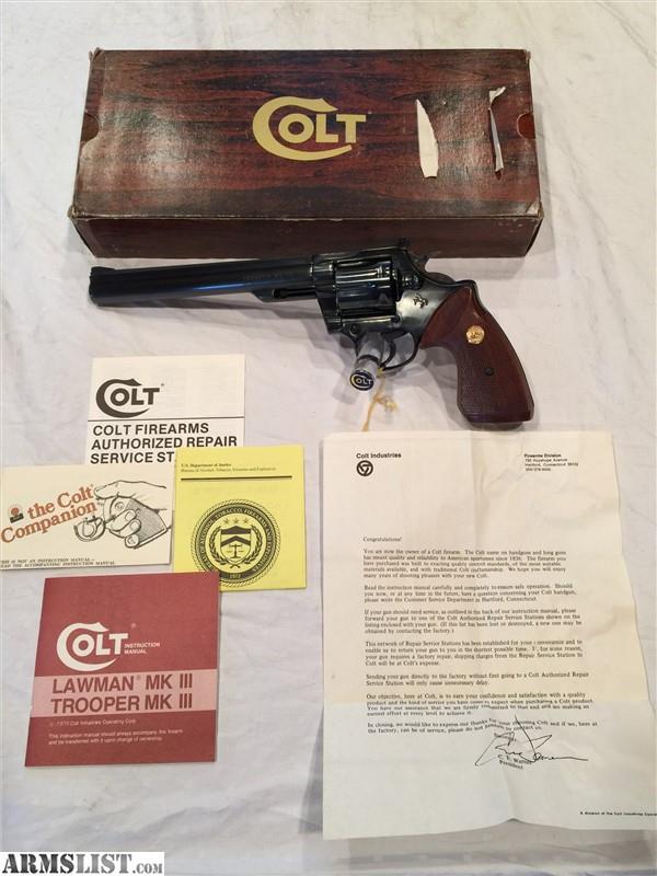 colt trooper mark iii box