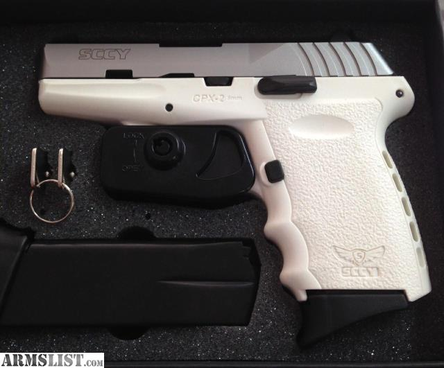 Armslist For Sale New Sccy White Amp Ss Cpx 2 9mm Pistol