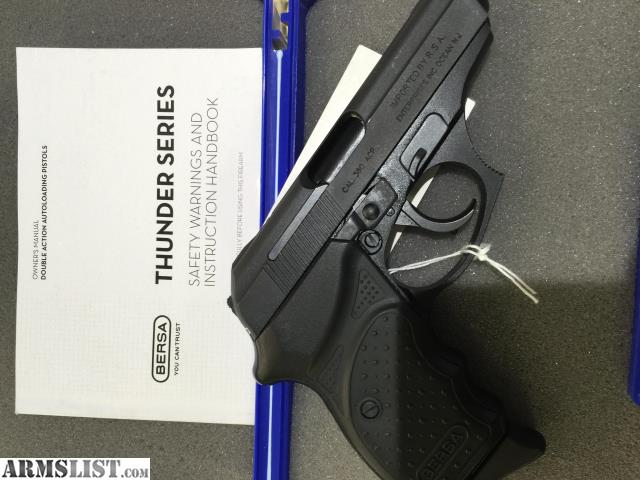 Bersa 380 thunder for sale - Lookup BeforeBuying