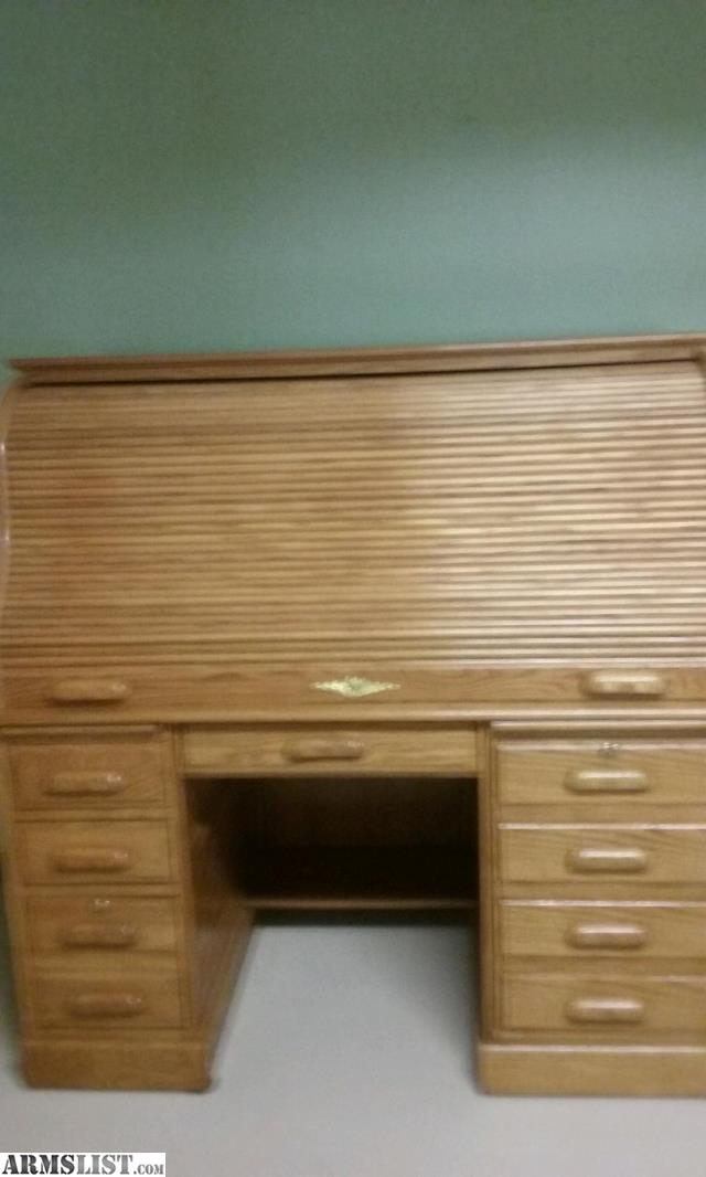 Roll Over Particle Board Desk ~ Armslist for sale trade roll top desk