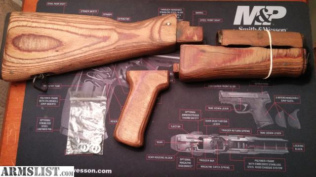 Armslist for sale romanian ak47 wood furniture set Ak 47 wooden furniture