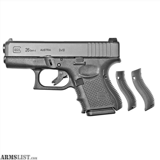 ARMSLIST - For Sale: Glock 26 9mm Gen4 9 mm