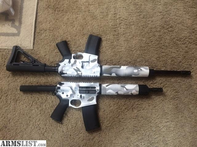 Armslist For Sale Trade Snow Camo Ar15 Rifle And Pistol