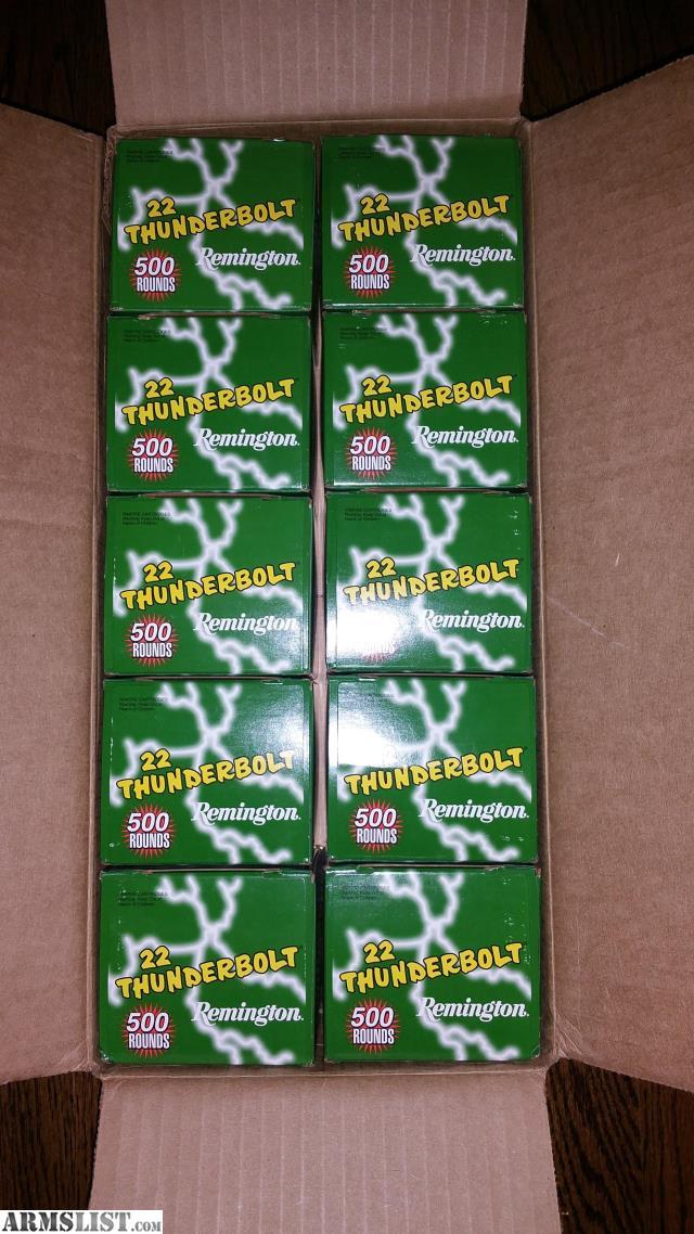 ARMSLIST - For Sale: 5000 Rounds of Remington Thunderbolt .22lr - $300 ...