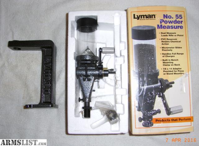 lyman 55 powder measure instructions