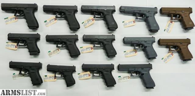 ARMSLIST - For Sale: New Shipment of Color Frame and Standard Glocks!