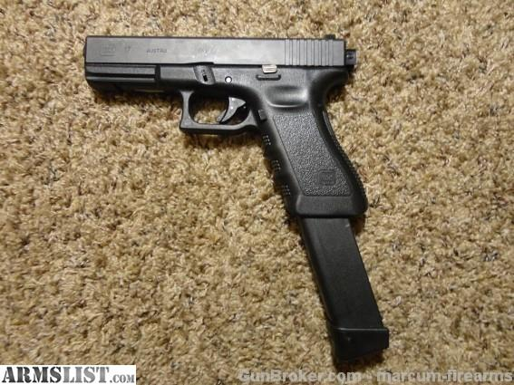 This is a Glock 17 conversion to a select fire machine gun. This gun is in stock ready for transfer! This gun has night sights and 3 Glock factory magazines ...
