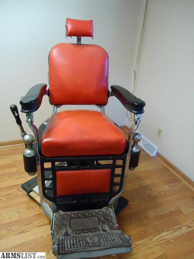 ARMSLIST For Sale Theo A Kochs Barber Chair