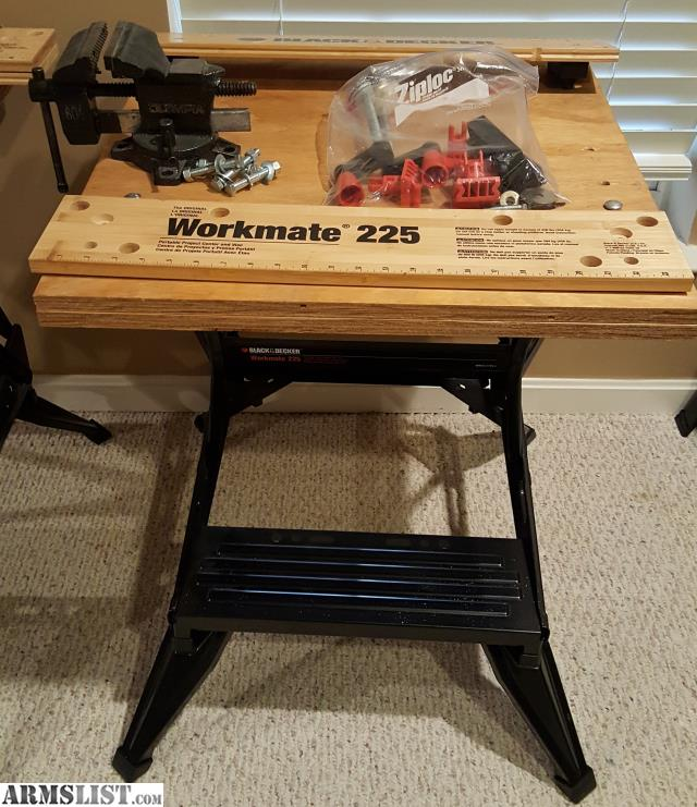 Armslist For Sale Reloading Bench Black Decker Workmate 225 W Wood Top
