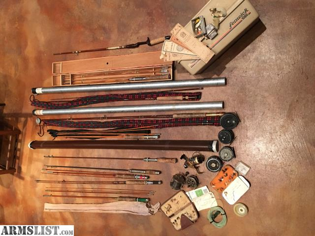 Armslist for sale trade vintage rods and reels and for Fishing rods and reels for sale