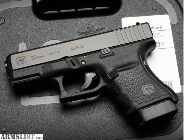 Glock 30s Gen 4 ARMSLIST - For Sale: G...