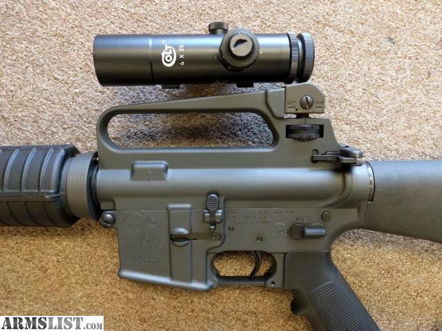 Original colt ar 15 a2 hbar sporter rifle with 4x colt scope 1499