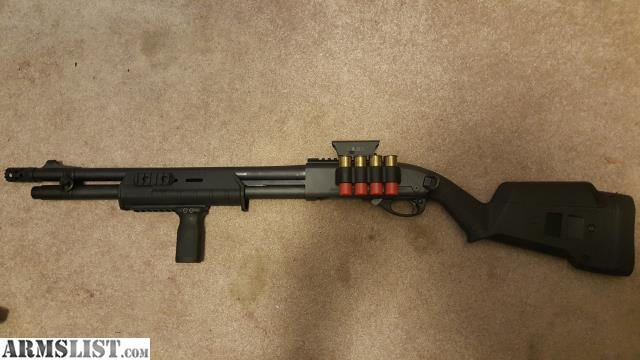 Upgraded follower. Upgraded Spring Full Magpul Furniture Magpul foregrip. MS Tatical Side Saddle 4 rnds. Door breacher serrated choke. Asking 600 & ARMSLIST - For Sale/Trade: Remington 870 Tactical Magpul \u0026 XS