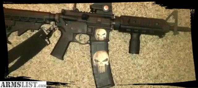 Armslist for saletrade ar m4custom tactical w punisher skull i have a custom built m4 chambered in 556 nib with a mean punisher skull themereally dont want to sell great riflebuilt with an anderson lower and a publicscrutiny Gallery
