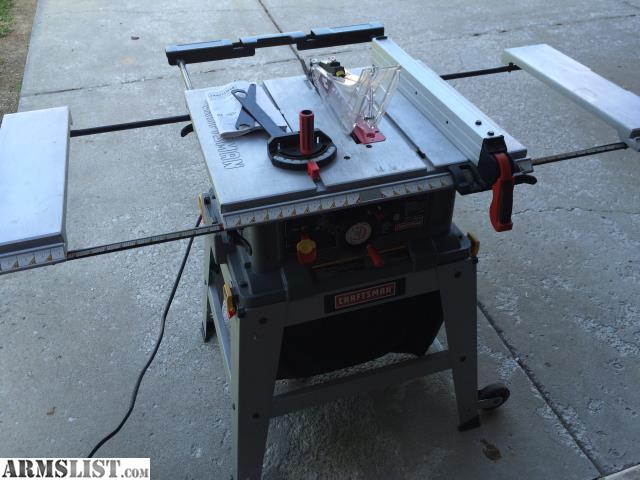 Armslist for sale trade craftsman 10 in table saw with for 10 inch table saws for sale