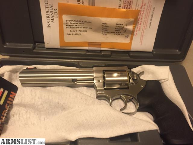 For sale ruger gp100 stainless 6 quot