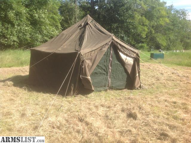 Up for sale is a nice very old military wall tent made out of very heavy waxed canvas. It is hexagon about 14u0027 in diameter with a 10 1/2u0027 center ceiling. & ARMSLIST - For Sale: Huge Antique Military Canvas Wall Tent WWII?