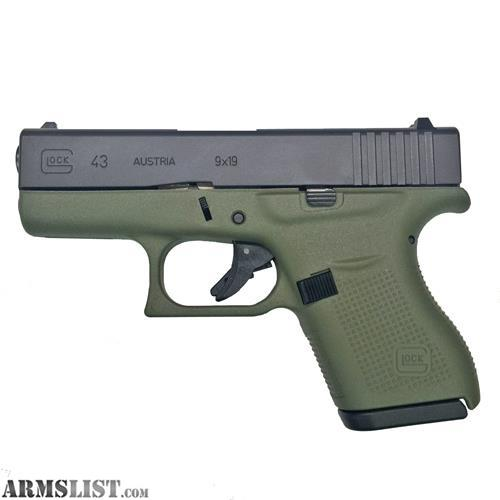ARMSLIST - For Sale: NEW Glock 43 9MM Battlefield Green