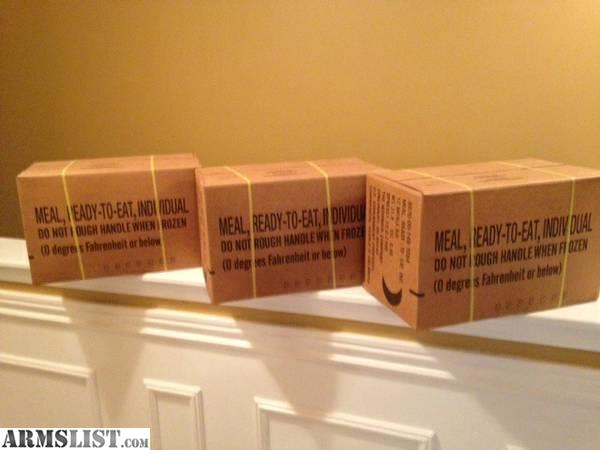 armslist for sale mre military meals unopened cases 12. Black Bedroom Furniture Sets. Home Design Ideas