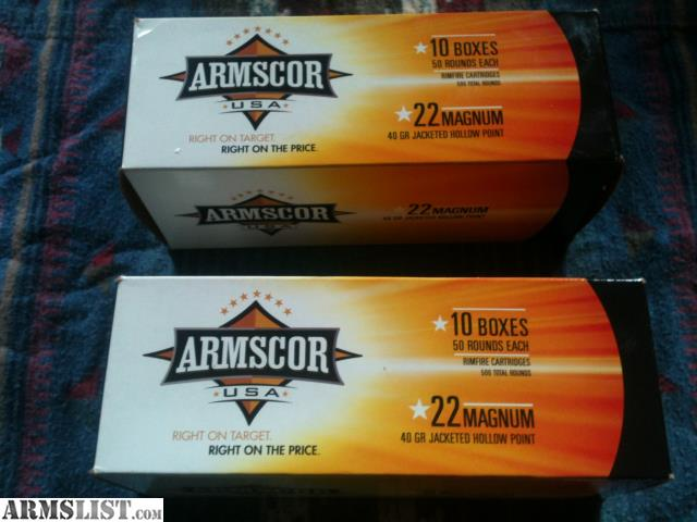 Armslist for sale 22 magnum ammo