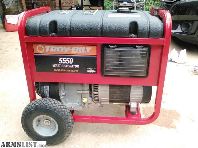 Armslist  Trade  Generator Troy Bilt 5500 Watts