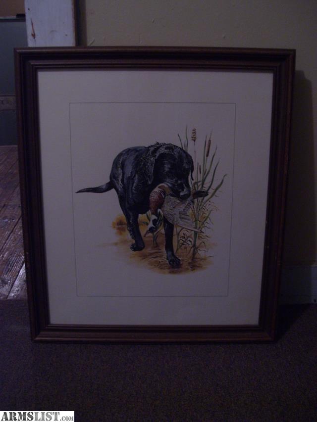 ARMSLIST - For Sale: Lou DePaolis Hunting Prints Framed on Canvas