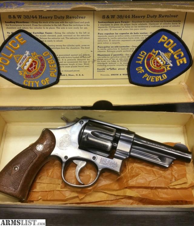 Shooting Ranges In Pueblo Colorado: For Sale: S&W 38/44 Heavy Duty Pueblo Police