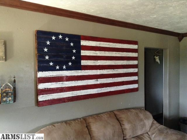 Wall Decor Ross : Armslist for sale betsy ross wood wall flag molon