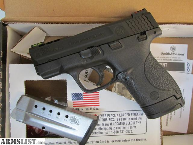 Armslist for sale trade smith wesson m p shield for M p ported shield 9mm