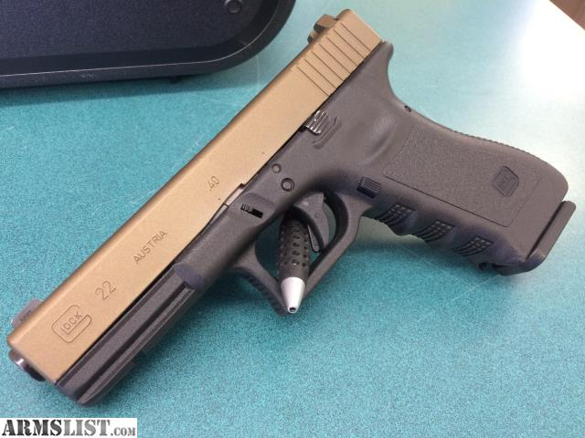 Armslist For Sale Glock Model 22 40 Cal Two Tone 3 Magazines