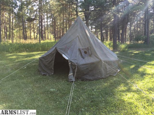 M1950 5 man arctic tent with frost liner telescoping center pole and stakes. The tent is in very good condition very warm with the liner in. & ARMSLIST - For Sale: Tent