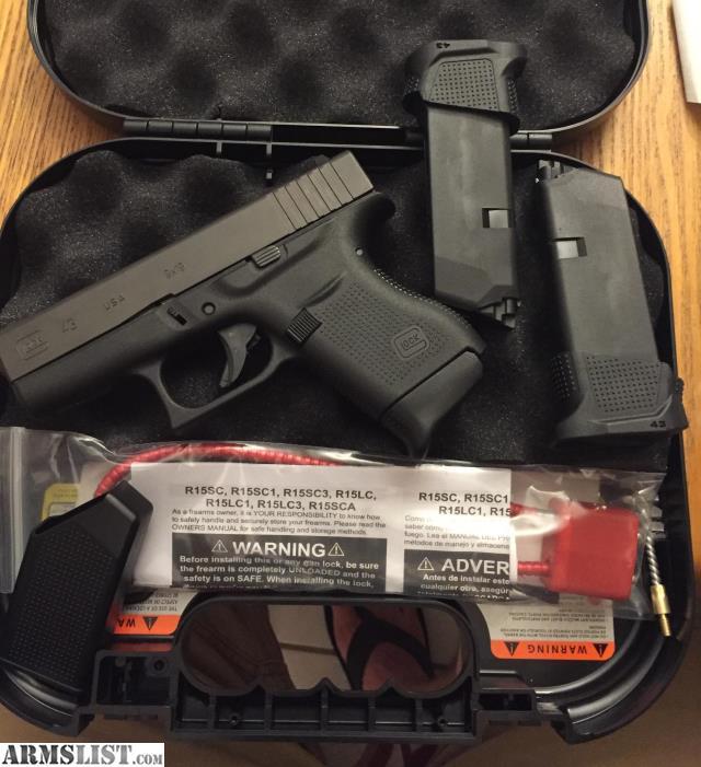 Armslist For Sale Trade Lnib Glock 43 Plus Ammo And